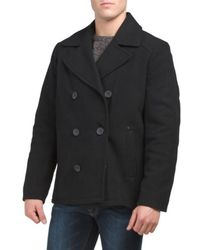 Tj Maxx - Wool Blend Double Breasted Peacoat - Lyst