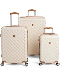 Tj Maxx 3pc Quilted Hardside Spinner Set - Natural