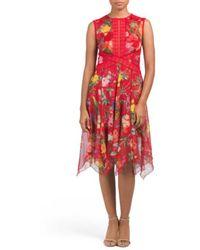 Tj Maxx | Floral & Lace Handkerchief Hem Dress | Lyst