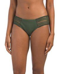 7204a2a977cd1 Tj Maxx - Sophia Crochet Side Tab Swim Bottom - Lyst