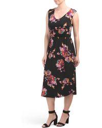 11302a823466e Tj Maxx Sleeveless Drape Midi Dress in Black - Lyst