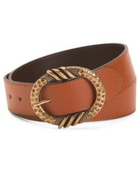 Tj Maxx - Made In Italy Leather Studded Buckle Belt - Lyst