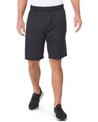 Tj Maxx Elastic Waist Shorts With Bonded Zipper Pockets - Black