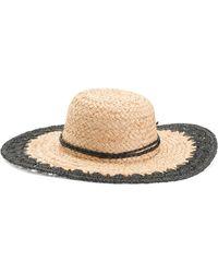 be4ecb651132 Lauren by Ralph Lauren Braided Wool Brim Hat in Gray - Lyst