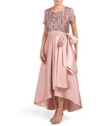 Tj Maxx Sequin Embellished Hi-lo Party Dress - Purple