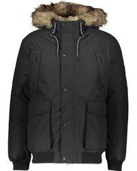 TK Maxx Faux Fur Trim Padded Jacket - Black