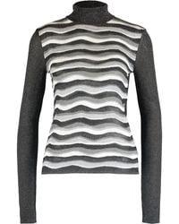 TK Maxx Lurex Wave Striped Jumper - Black