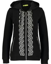 TK Maxx Black Embroidered Abstract Zip Through Hoodie