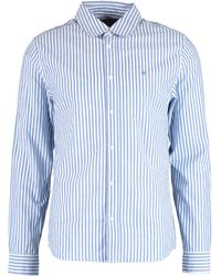 TK Maxx & White Striped Shirt - Blue