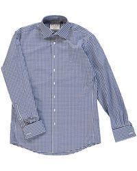 TK Maxx Slim Fit Gingham Shirt - Blue