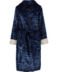 TK Maxx Marl Effect Bath Robe - Blue
