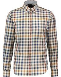 TK Maxx Beige Check Long Sleeve Shirt - Metallic