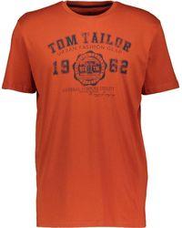 TK Maxx Brunt Logo Print T Shirt - Orange