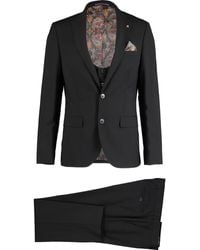 TK Maxx Wool Blend 3 Piece Suit - Black