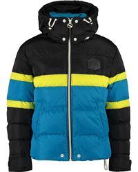 TK Maxx & Black Colour Block Puffer Coat - Blue