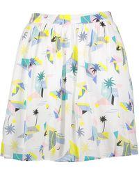 TK Maxx White Geo Palms Flared Skirt