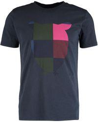 TK Maxx Colour Block Owl T Shirt - Blue