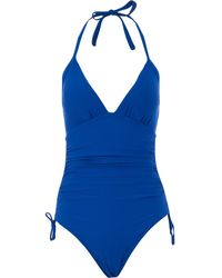 TK Maxx Ruched Swimsuit - Blue