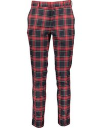 TK Maxx Black & Red Tartan Check Trousers