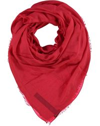 TK Maxx See Through Fringed Scarf - Red