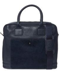 TK Maxx Leather Laptop Bag - Blue