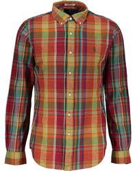 TK Maxx Checked Long Sleeve Shirt - Orange