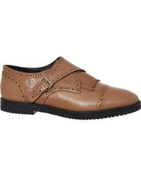 TK Maxx Camel Leather Fringed Brogues - Brown