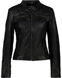 TK Maxx Leather Biker Jacket - Black