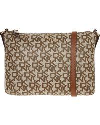 TK Maxx Branded Cross Body Bag - Natural