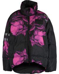 TK Maxx Black & Puffer Jacket - Purple