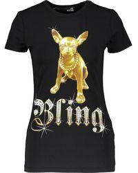 TK Maxx Bling Chihuahua Crew Neck T-shirt - Black