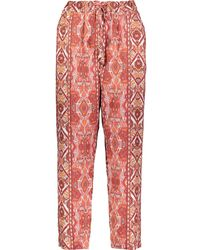 TK Maxx Aztec Linen Trousers - Red