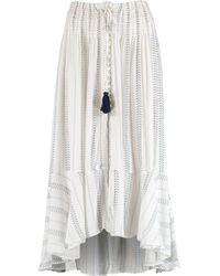 TK Maxx White & Tassel Maxi Skirt - Blue