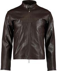 TK Maxx Heritage Leather Jacket - Brown