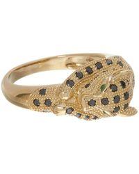 TK Maxx 9ct 0.556ct Diamond Leopard Ring - Metallic