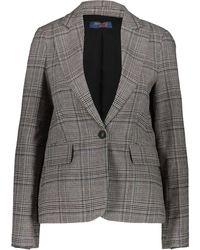 TK Maxx Chequered Wool Blend Blazer - Grey