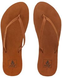TK Maxx Cocoa Leather Flip Flops - Brown