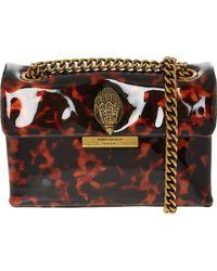 TK Maxx Dark Brown Print Mini Kensington Shoulder Bag