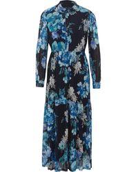 TK Maxx Floral Mesh Maxi Dress - Blue