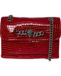 TK Maxx Leather Reptile Effect Eagle Head Chain Grab Bag - Red