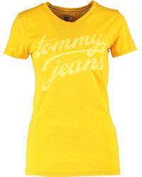 TK Maxx Lemon Logo Print T Shirt - Yellow