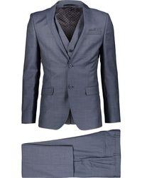 TK Maxx Three Piece Wool Blend Suit - Blue