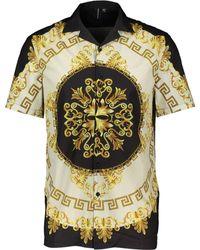 TK Maxx Black & Baroque Resort Shirt - Metallic