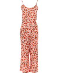 TK Maxx Floral Sleeveless Jumpsuit - Orange