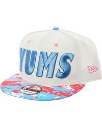 TK Maxx White & Glitch Yums Cap - Blue