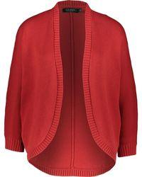 TK Maxx Herringbone Knit Cardigan - Red