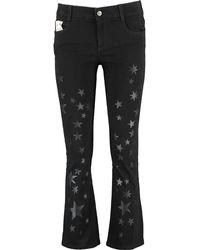 TK Maxx Star Cropped Flare Jeans - Black