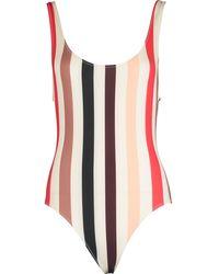 TK Maxx Striped Swimsuit - Red