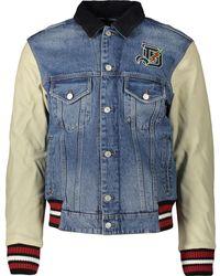 TK Maxx Blue Denim Varsity Jacket