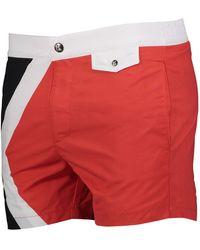 TK Maxx Red & White Swim Shorts